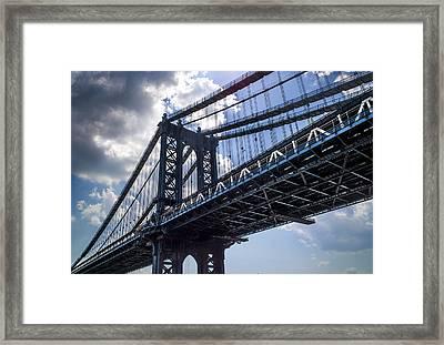 Manhattan Bridge Framed Print by Chris Halford