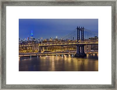 Manhattan Bridge Framed Print by Eduard Moldoveanu