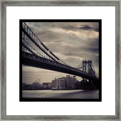Manhattan Bridge In Ny Framed Print