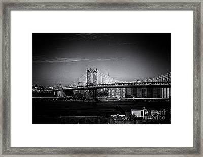 Manhattan Bridge New York City Framed Print by Sabine Jacobs