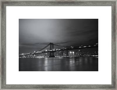 Manhattan Bridge - New York City Framed Print by Vivienne Gucwa