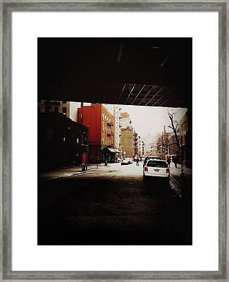 Manhattan Bridge Overpass - Chinatown - New York City Framed Print by Vivienne Gucwa