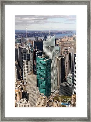 Manhattan Bryant Park Aerial Framed Print by Jannis Werner