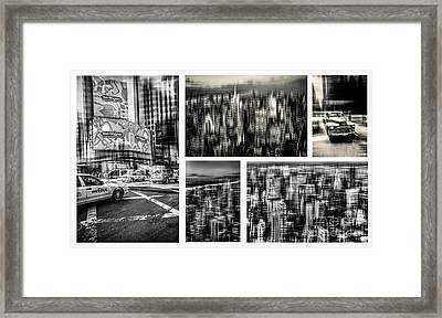 Manhattan Collection I Framed Print by Hannes Cmarits