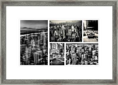 Manhattan Collection II Framed Print by Hannes Cmarits