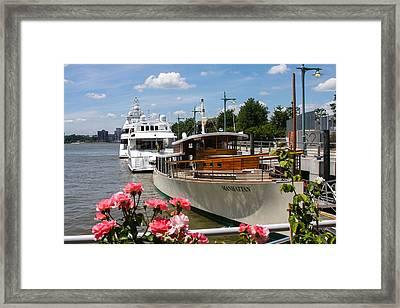 Manhattan Cruise Boat Framed Print