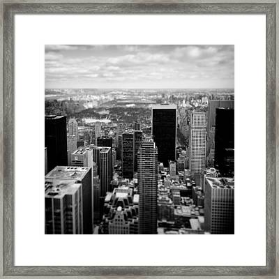 Manhattan Framed Print by Dave Bowman