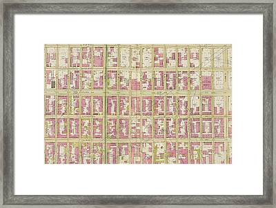 Manhattan, Double Page Plate No. 30 Map Bounded By 5th Ave Framed Print by Litz Collection