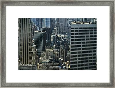 Manhattan From Above Framed Print by Dan Sproul