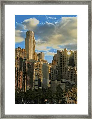 Manhattan From The 911 Memorial Framed Print