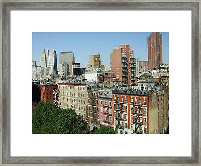 Manhattan Graffiti Framed Print by Diane Reed