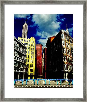 Manhattan Highlights Framed Print by Benjamin Yeager