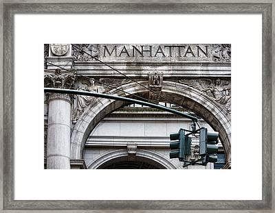 Manhattan Framed Print by Joanna Madloch
