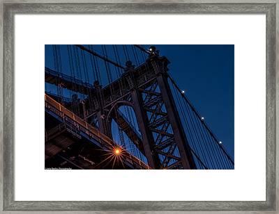 Framed Print featuring the photograph Manhattan Light by Linda Karlin