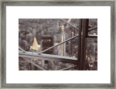 Manhattan Lights From The Empire State Building Framed Print by Marianna Mills