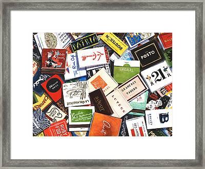 Manhattan Memories Framed Print by Grace Swanson