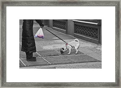 Manhattan  Moment Framed Print by Larry Goss
