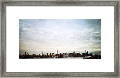 Manhattan Ny Framed Print