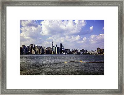 Manhattan On My Mind Framed Print