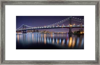 Manhattan Reflections  Framed Print