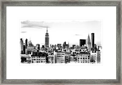 Manhattan  Framed Print by Scott Snizek