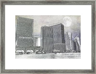 Manhattan Seaport Framed Print