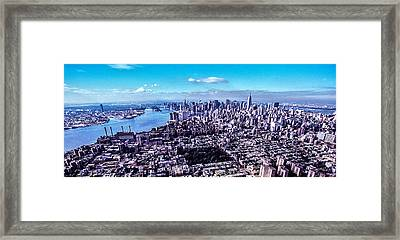 Manhattan Seen From North  Framed Print by Kim Lessel