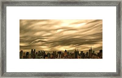 Manhattan Sky Framed Print