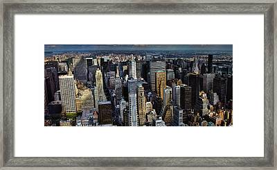 Manhattan Skyline 5 Framed Print by New York