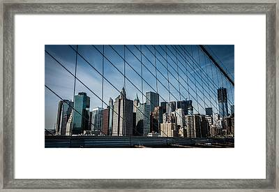 Framed Print featuring the photograph Manhattan Skyline by James Howe
