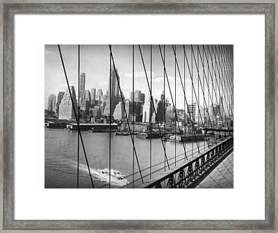 Manhattan Skyline Framed Print by Underwood Archives
