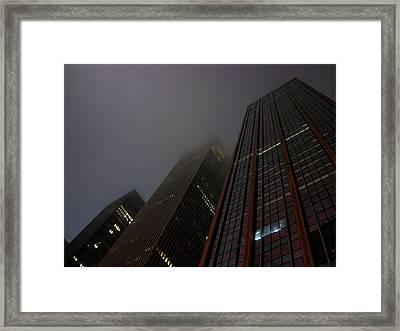 Manhattan Skyscrapers Framed Print