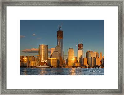 Manhattan Sunset Reflections IIi Framed Print