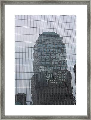 Manhattan Tower Framed Print by Susan Alvaro