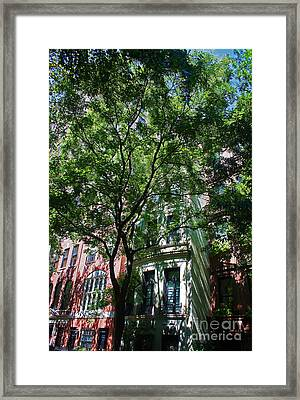 Manhattan Upper East Side Late Summer Framed Print by Andy Prendy