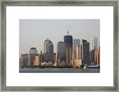 Manhattan View Framed Print by Christiane Schulze Art And Photography