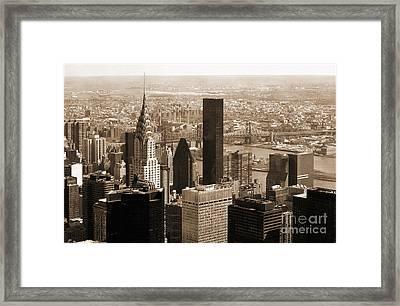 Manhattan Vintage  Framed Print