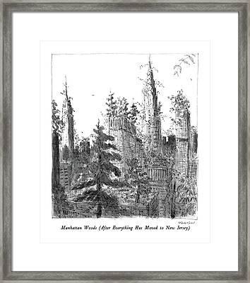 Manhattan Woods Framed Print