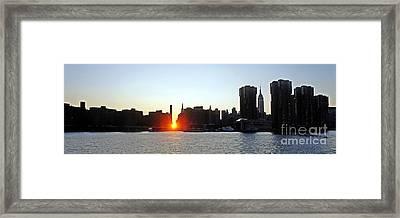Framed Print featuring the photograph Manhattanhenge 2011 by Lilliana Mendez