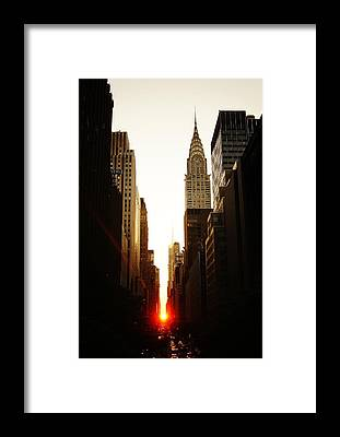City Sunset Framed Prints