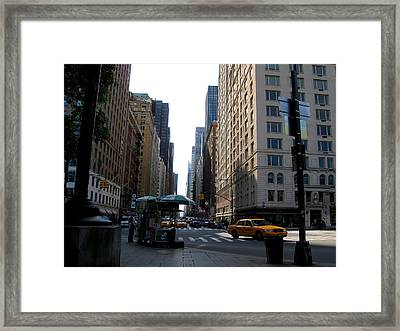 Manhatttan Cabs Framed Print