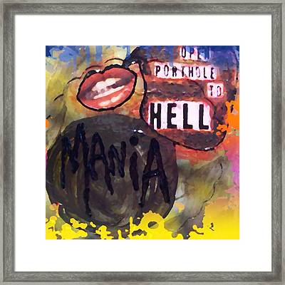 Mania Framed Print by Lisa Piper