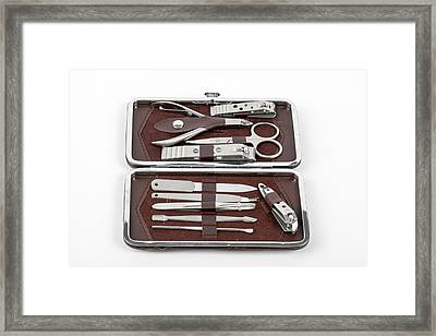 Manicure And Pedicure Set Framed Print
