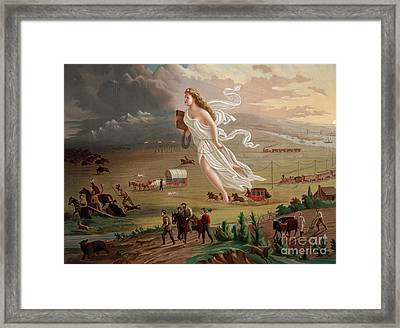 Manifest Destiny 1873 Framed Print by Photo Researchers
