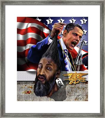 Manifestation Of Frustration - I Am Commander In Chief - Period - On My Watch - Me And My Boys 1-2 Framed Print