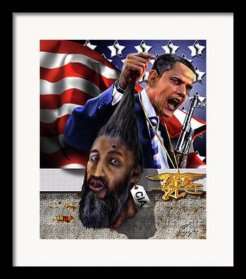 Osama Be Laden Framed Prints