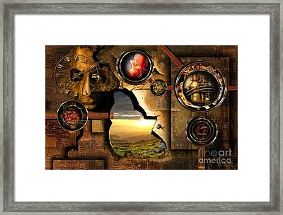 Manipulation Of The Human Reality Framed Print