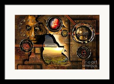 Planet Factory Framed Prints