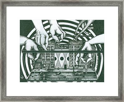 Manipulation  Framed Print by Richie Montgomery