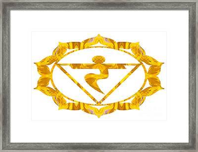 Manipura Abstract Chakra Art By Omaste Witkowski Framed Print
